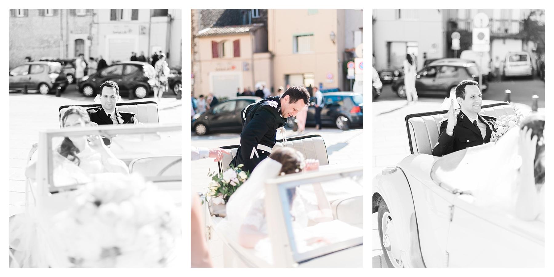 photo voiture mariage var